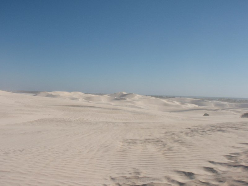 Driving in Lancelin Dunes
