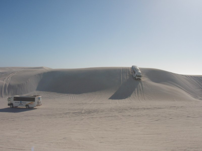 Bus in the dunes at Lancelin