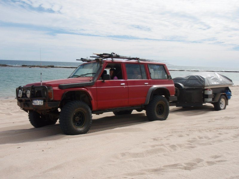Camper Trailers on the Beach