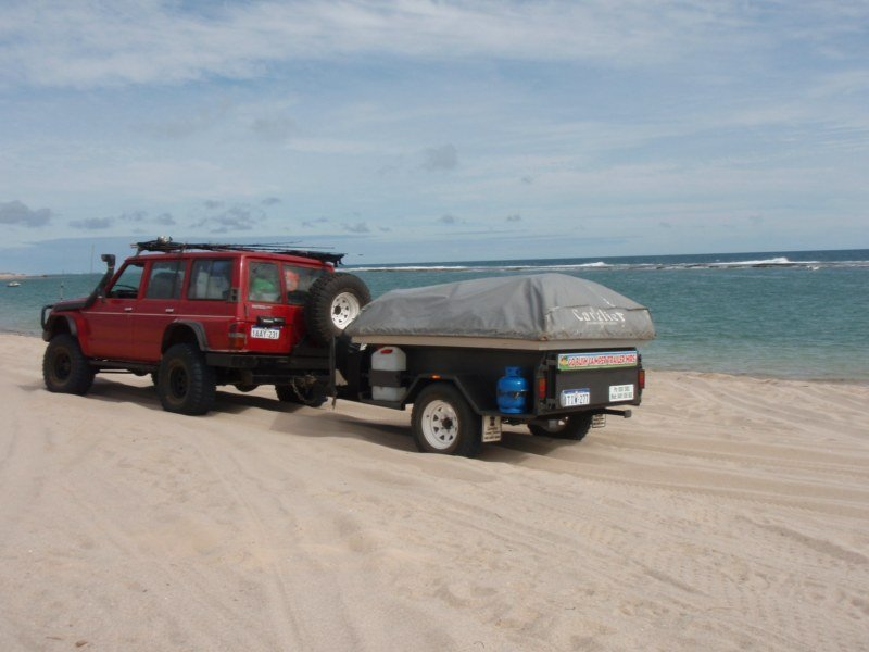 Towing on the beach