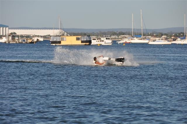 Falling off the Jetski