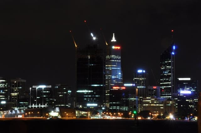 Perth City at night from South Perth