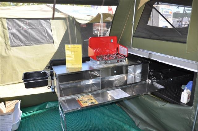 Slide out Camper Trailer Kitchen