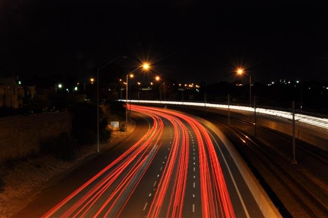 Kwinana Freeway night photography