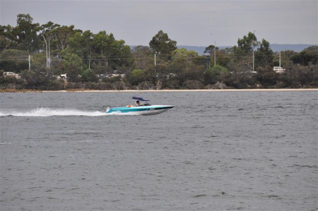 Ski boats on the Swan River