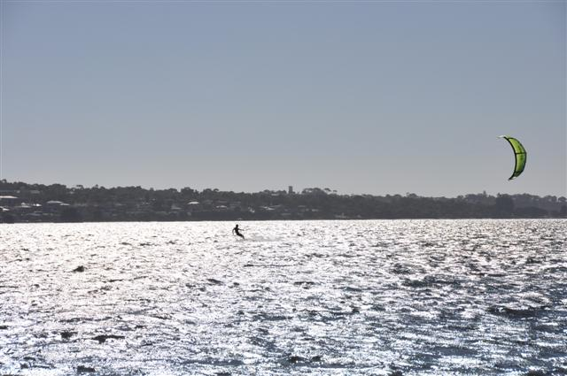 Kite Surfing on Melville Waters, Swan River