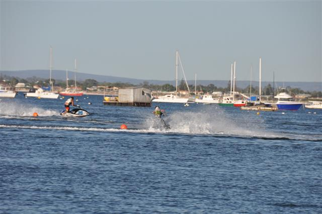 Ripping it up on Jet Skis at Rockingham