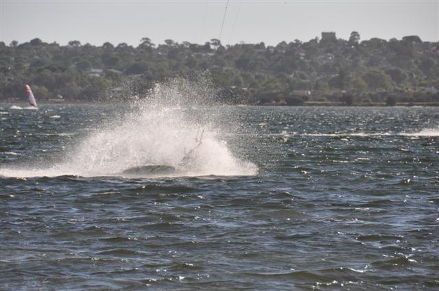 Kite surfing splash