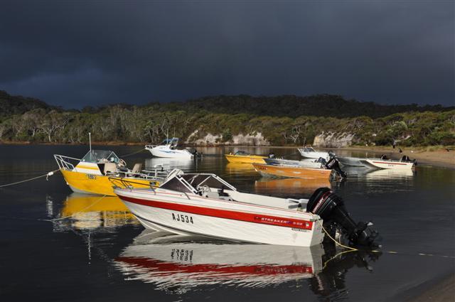 Boats in Walpole Inlet