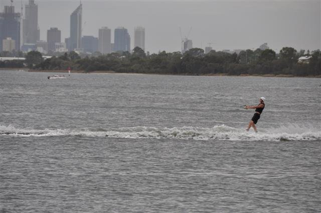 An overcast day for Wakeboarding