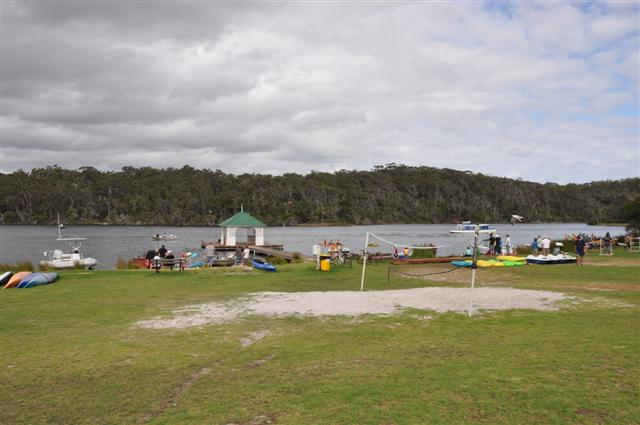 A busy day at Rest Point Caravan Park