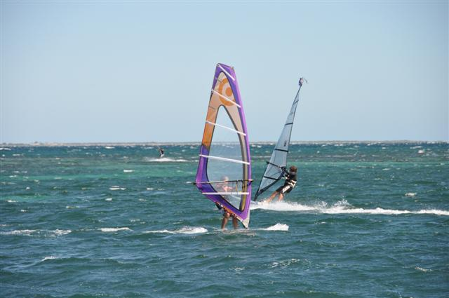 Windsurfing around Rockingham