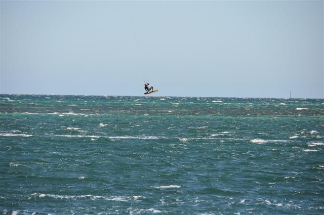 Airborne Kite Surfing