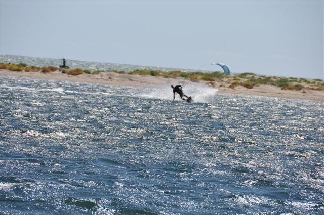 Kite Surfing in the lagoon at Rockingham