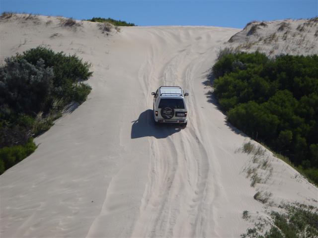 Tackling a big sand dune
