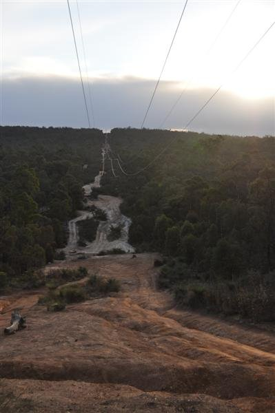 Following the Powerlines at Mundaring