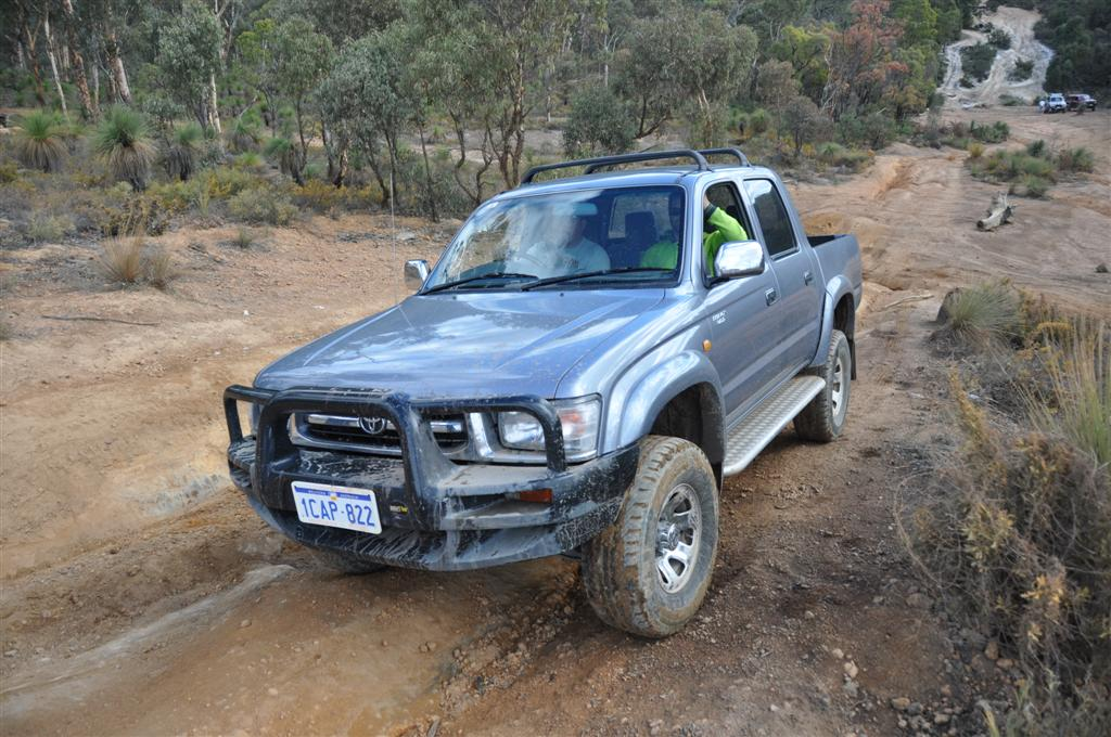 A Hilux on the Mundaring Powerlines Track