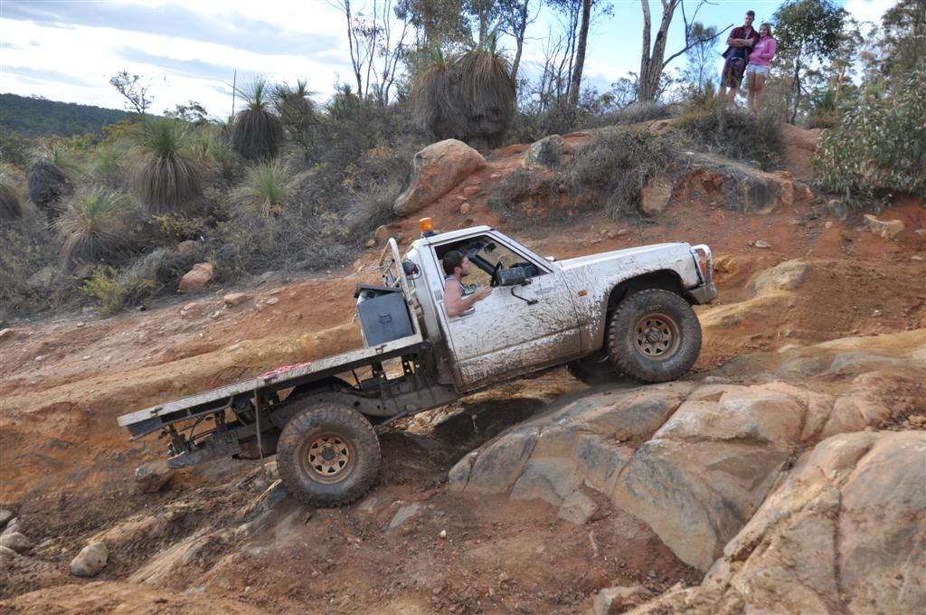 A Challenging Section at Mundaring Powerlines Track