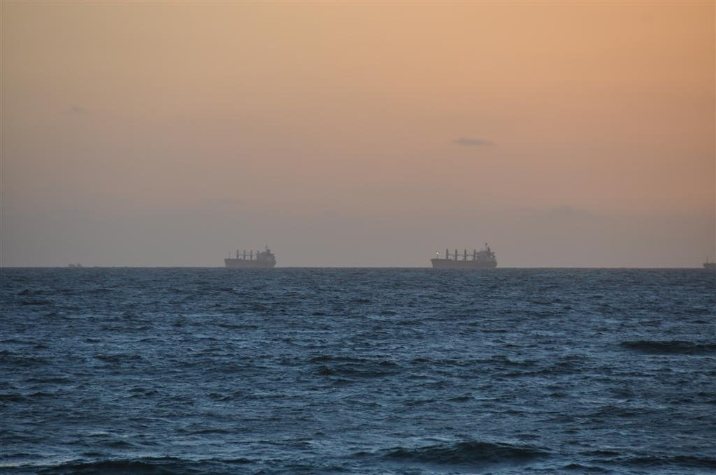 Big Ships Off Cottesloe Beach