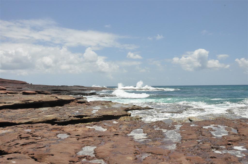 Crashing Waves at Red Bluff