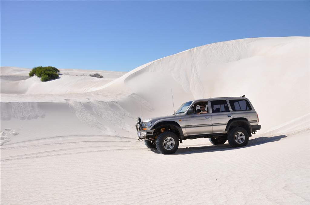 Enjoying Lancelin Sand Dunes