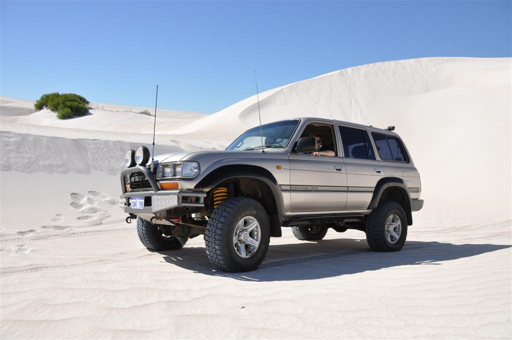 Exploring Lancelin Sand Dunes in an 80 Series