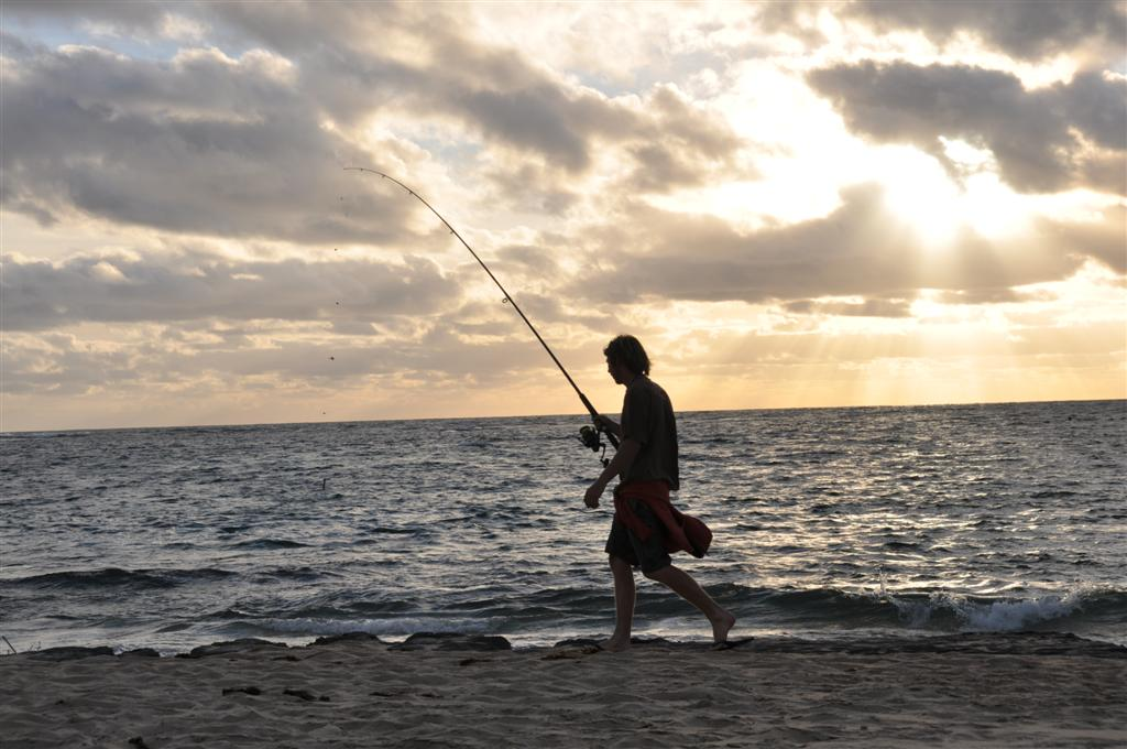 Fishing from Point Peron