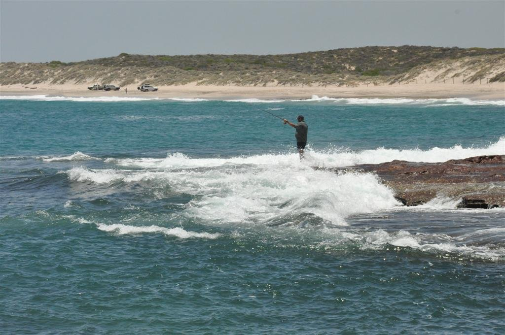 Fishing Off the Rocks at Kalbarri