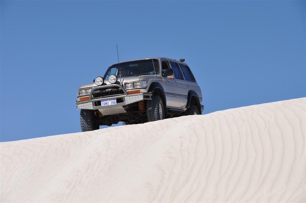 Four Wheel Driving in Sand Dunes