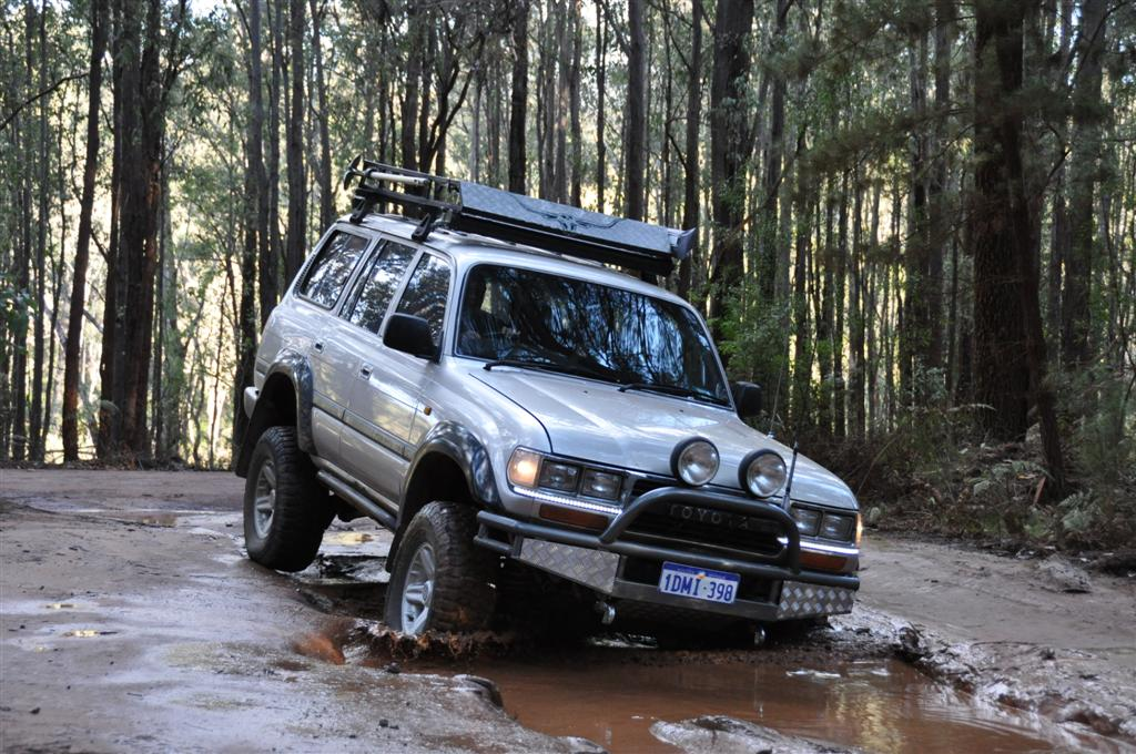 Four Wheel Driving at Dwellingup in the Mud