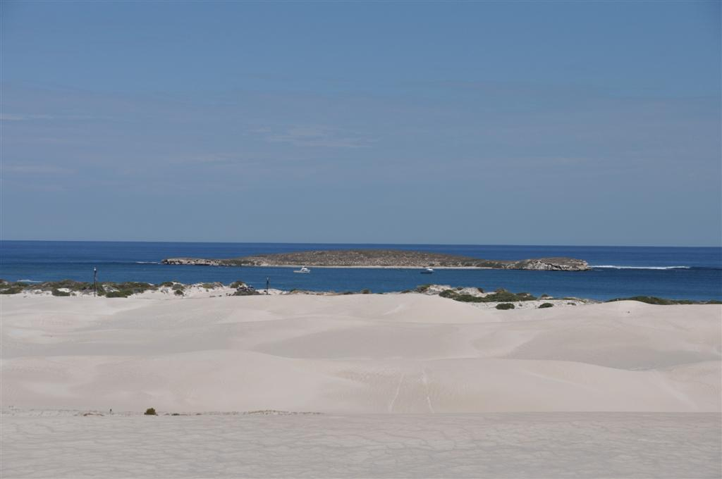 Lancelin Island from the Sand Dunes