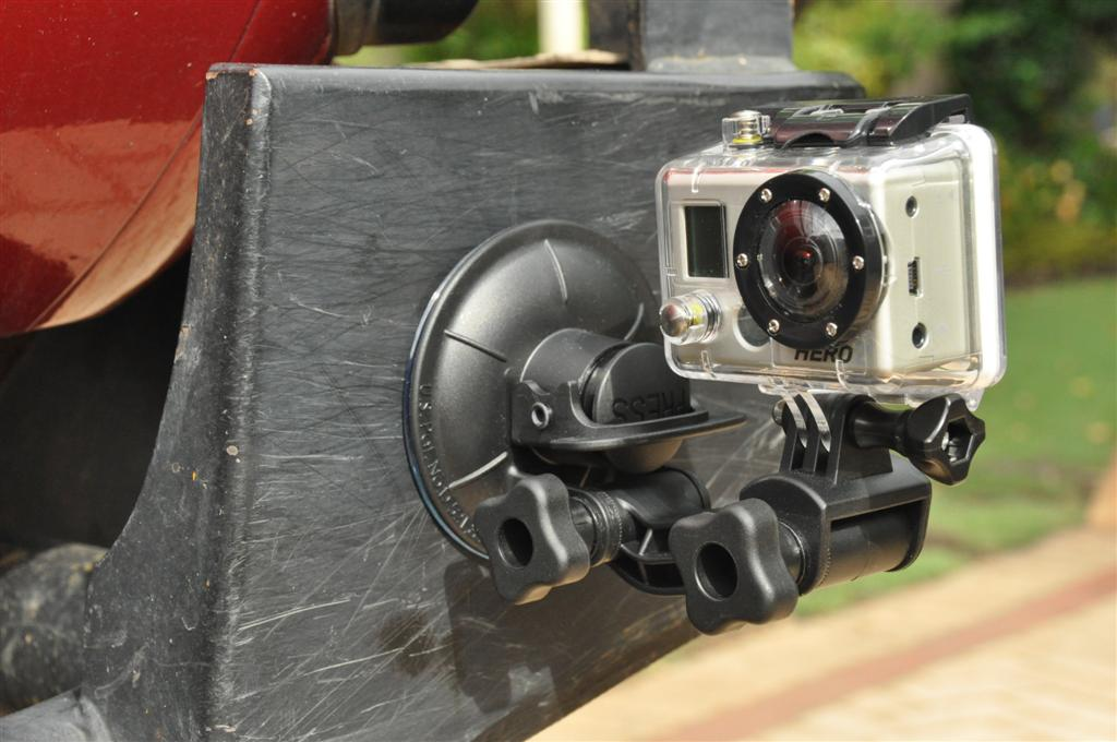Mounting a go Pro Camera to my Kaymar Rear Bar