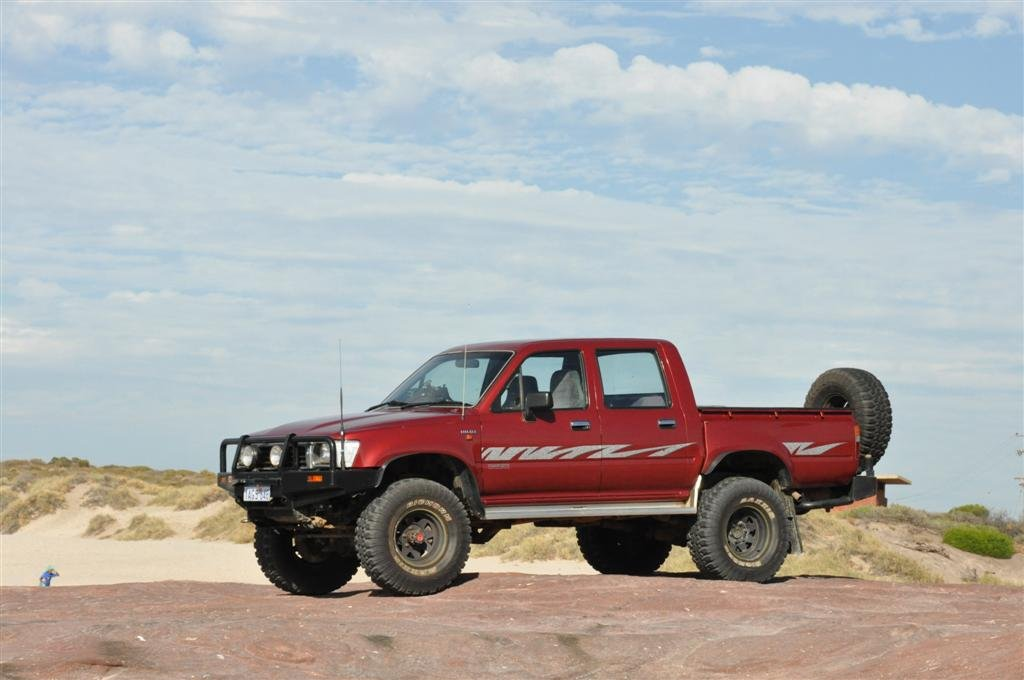 My Hilux in Kalbarri