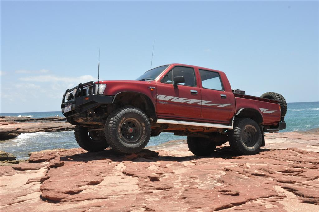 My Hilux Posing at Red Bluff