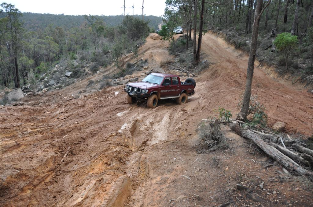 One of the Most Difficult Sections at Mundaring in the Wet