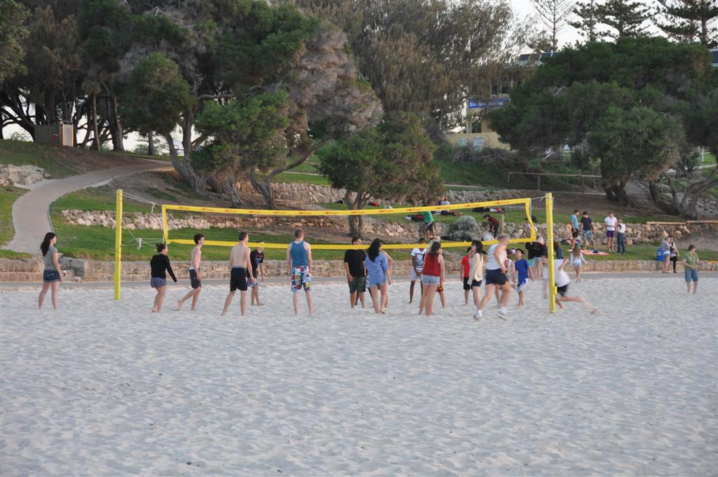 Playing Beach Volleyball at Cottesloe
