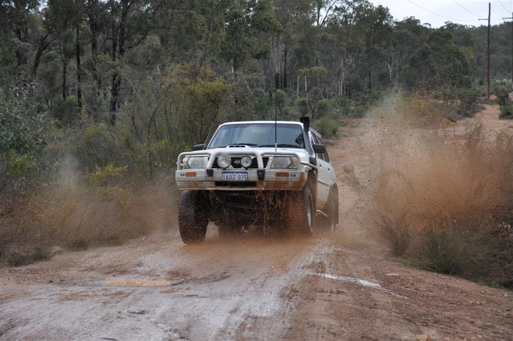 Splashing Water at Mundaring Powerlines Track