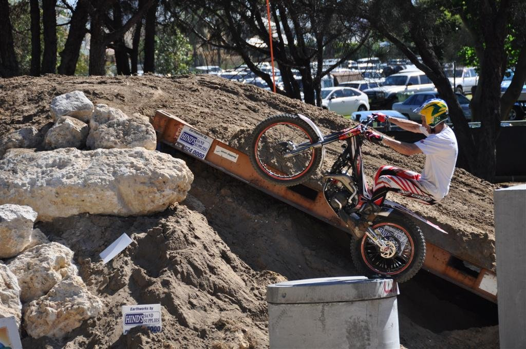 Trial Bike Demo at the Perth 4wd Adventure Show