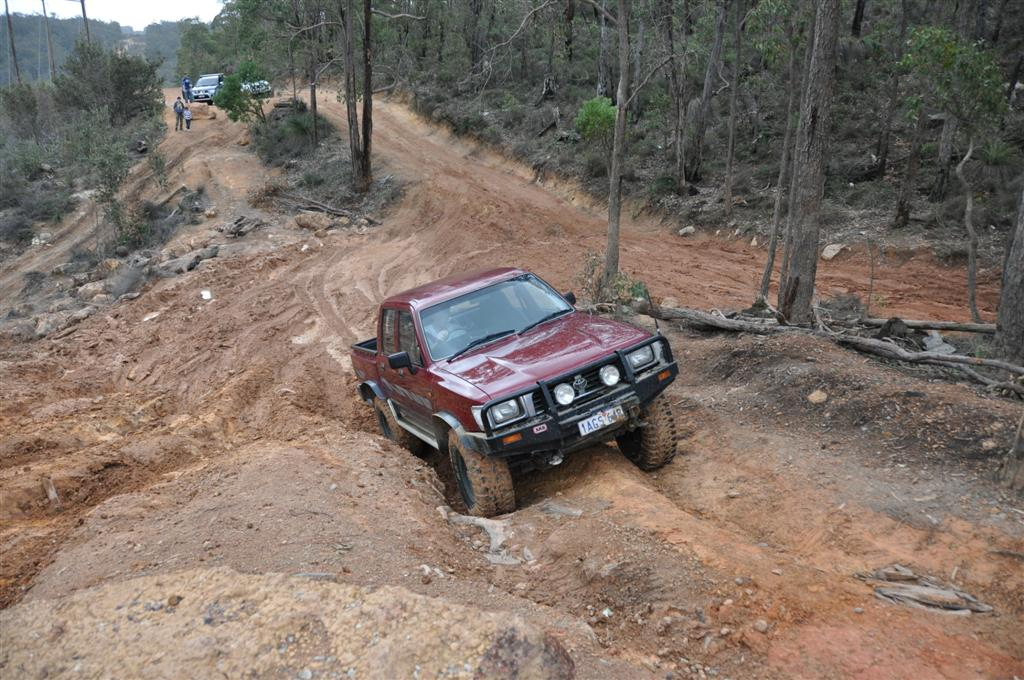 Trying Different Lines at Mundaring