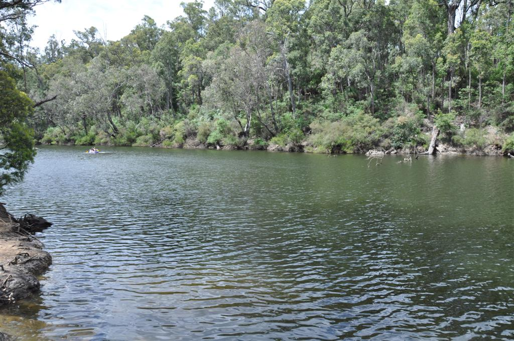 Relaxing by a river near Perth