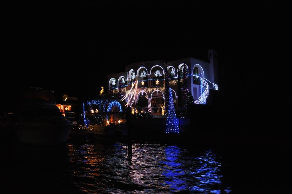 Christmas Lights in Mandurah on the Canals