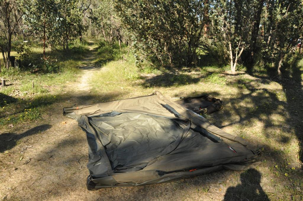Setting the Oztent up at Walyunga