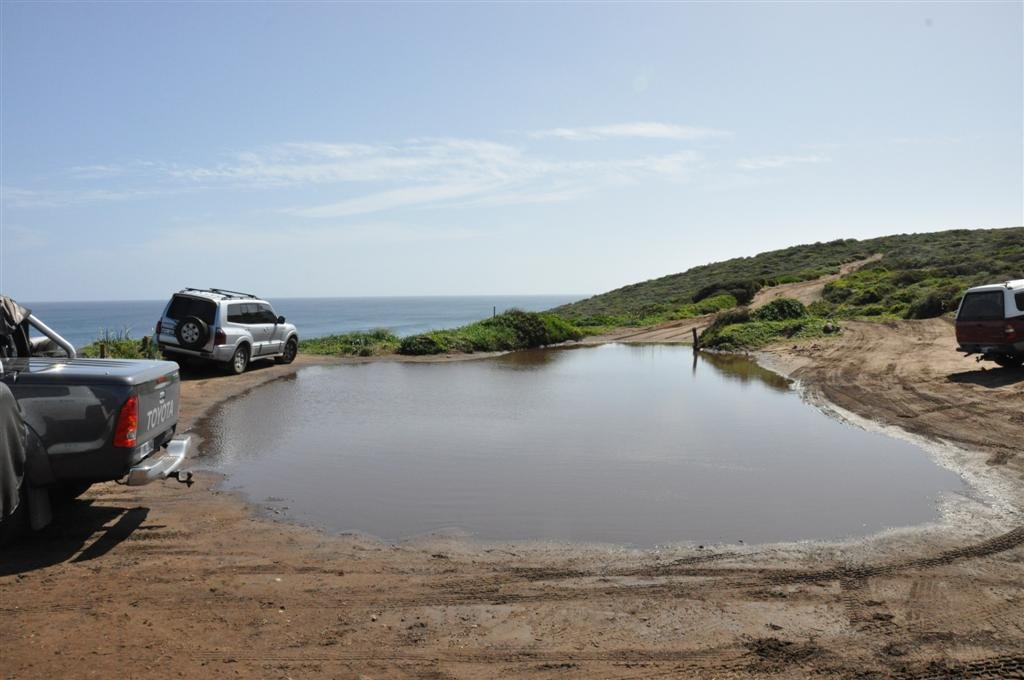 A puddle on the 3 Bears 4WD Track