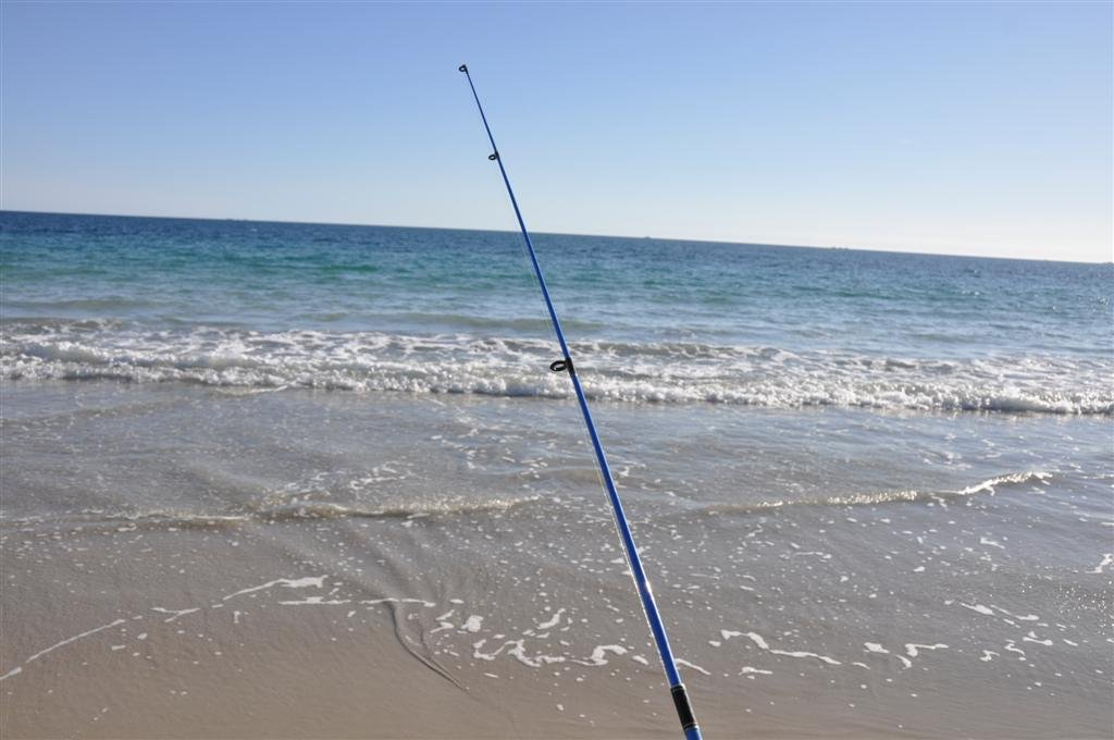 Beach fishing in Perth