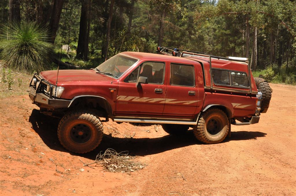 Stretching the Hilux springs at Dwellingup