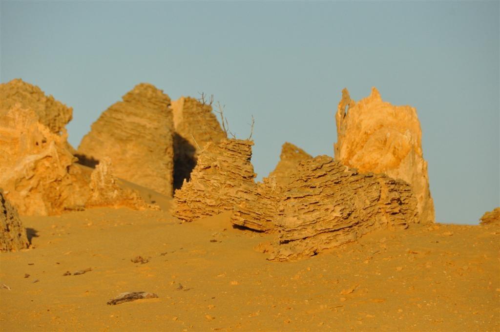 Incredible rock foundations in Cervantes