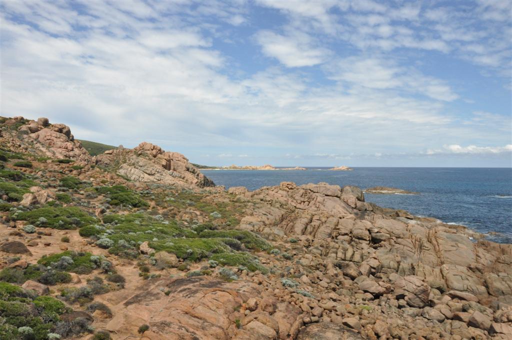 Rocky coastline near Smiths Beach