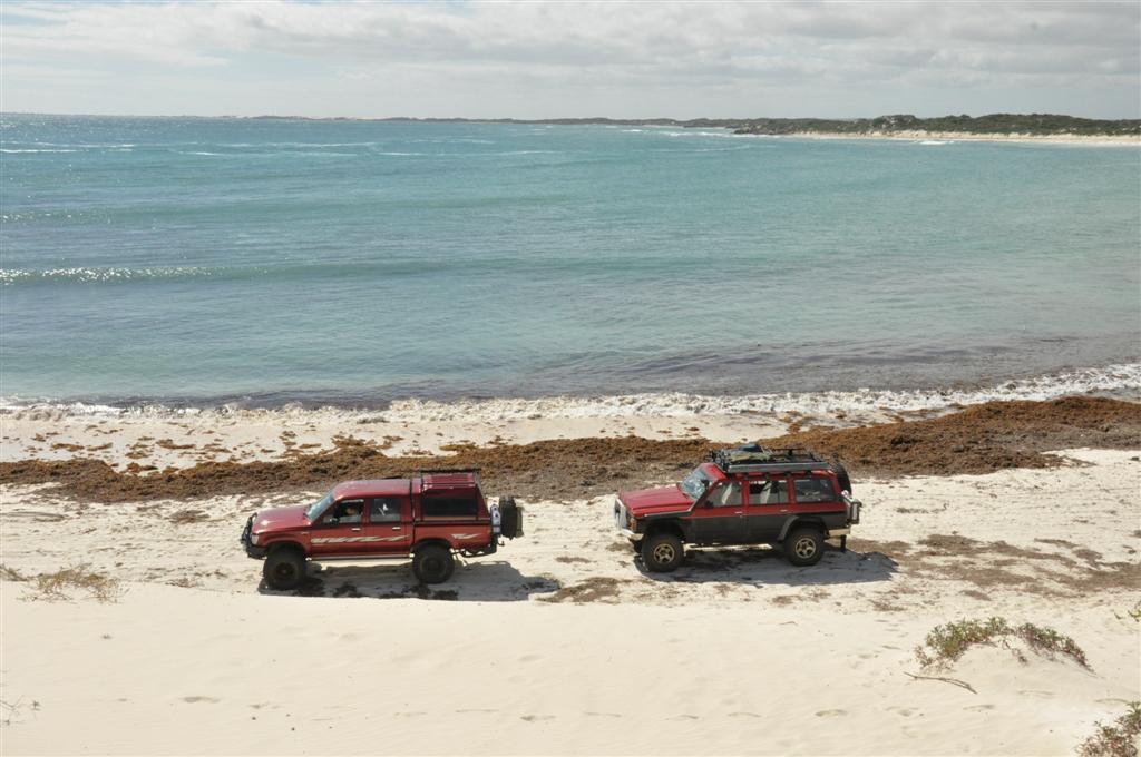 Enjoying the beach at Sandy Cape