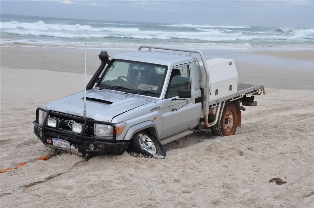 High speeds along the beach are a bad idea!