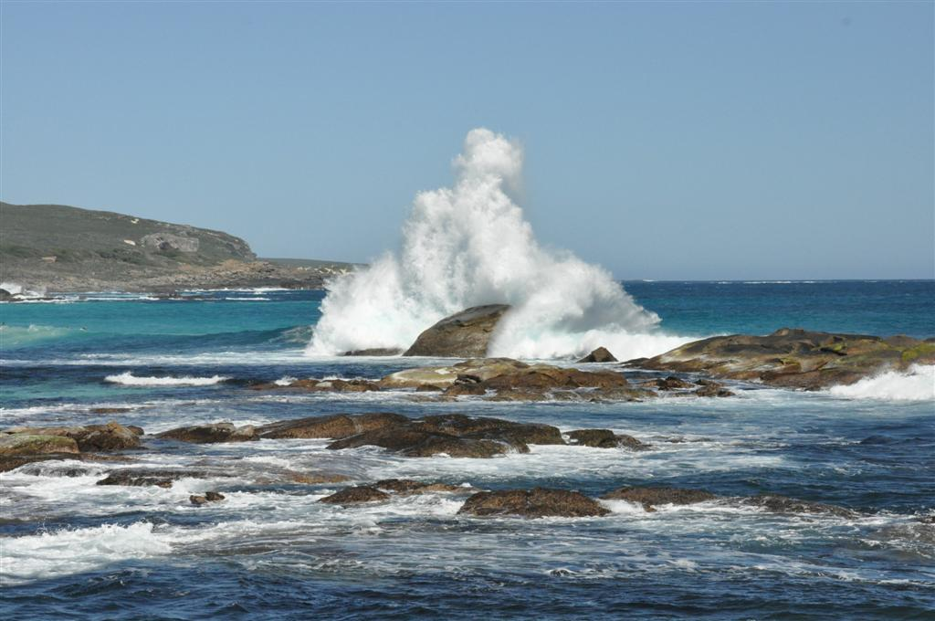 A big spray at Redgate Beach